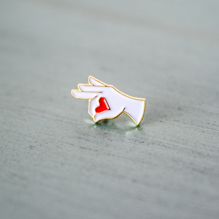 OK SWEETHEART enamel pin