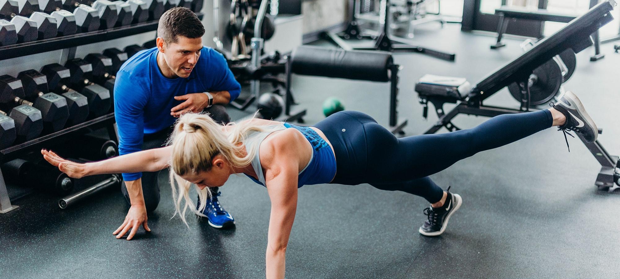 Sean Ferguson training blonde woman